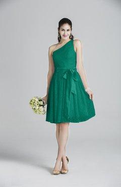 6ff14956255c ColsBM Ariya Mint Romantic One Shoulder Zip up Knee Length Sash Bridesmaid  Dresses