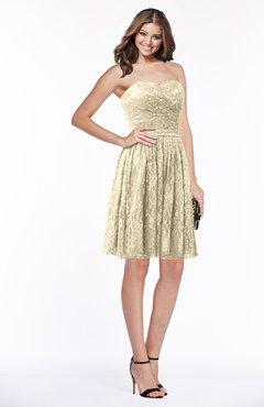 8f25a2c99c4f ColsBM Penelope Novelle Peach Modest Sweetheart Zip up Satin Knee Length  Lace Bridesmaid Dresses