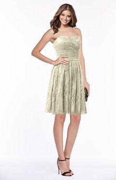 ae4041d809d8 ColsBM Penelope Tan Modest Sweetheart Zip up Satin Knee Length Lace  Bridesmaid Dresses