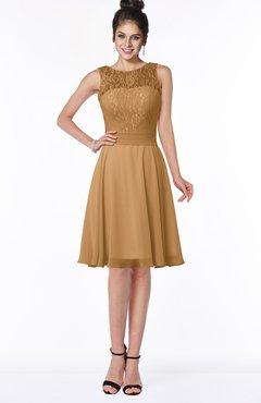 ColsBM Helen Doe Glamorous A-line Scoop Zip up Chiffon Sash Bridesmaid Dresses