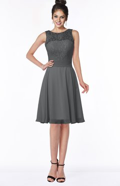 ColsBM Helen Blackberry Cordial Glamorous A-line Scoop Zip up Chiffon Sash Bridesmaid Dresses