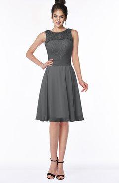 Glamorous A-line Scoop Zip up Chiffon Sash Bridesmaid Dresses