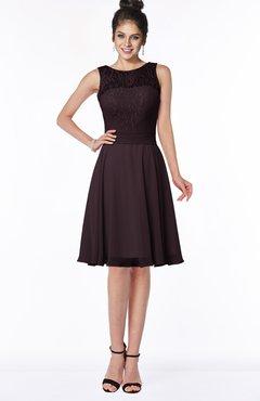 ColsBM Helen Italian Plum Glamorous A-line Scoop Zip up Chiffon Sash Bridesmaid Dresses