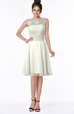 ColsBM Helen Ivory Glamorous A-line Scoop Zip up Chiffon Sash Bridesmaid Dresses