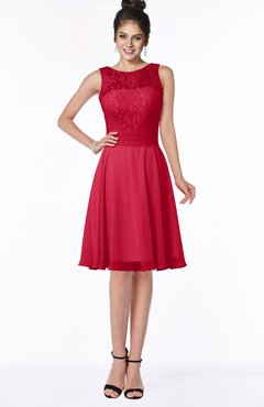 ColsBM Helen Lollipop Glamorous A-line Scoop Zip up Chiffon Sash Bridesmaid Dresses