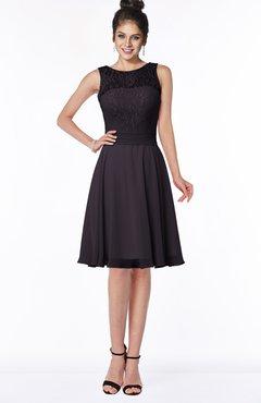 ColsBM Helen Perfect Plum Glamorous A-line Scoop Zip up Chiffon Sash Bridesmaid Dresses