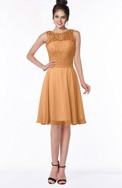 ColsBM Helen Pheasant Glamorous A-line Scoop Zip up Chiffon Sash Bridesmaid Dresses