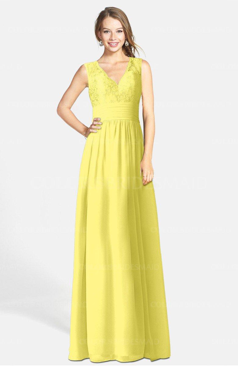 Yellow iris romantic a line v neck zip up chiffon bridesmaid romantic a line v neck zip up chiffon bridesmaid dresses ombrellifo Image collections