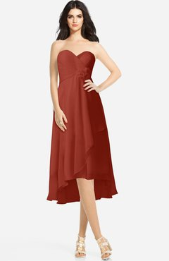 85824820f72 ColsBM Kasey Rust Classic Sweetheart Sleeveless Zip up Hi-Lo Plus Size  Bridesmaid Dresses
