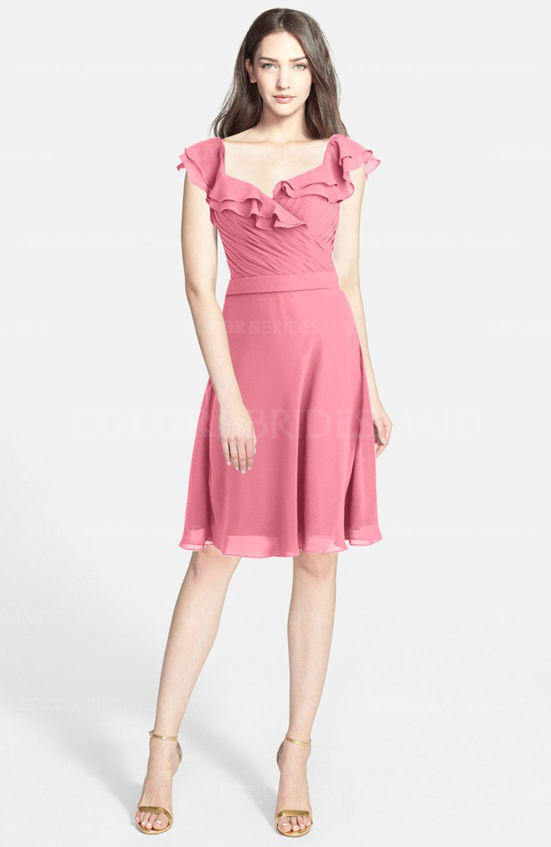 ColsBM Liliana Watermelon Bridesmaid Dresses - ColorsBridesmaid