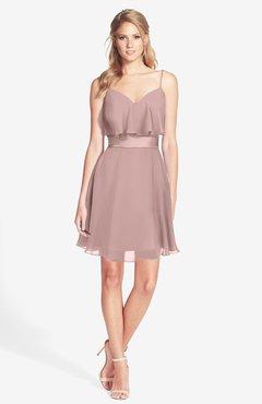 ColsBM Rosemary Blush Pink Gorgeous Fit-n-Flare Sleeveless Chiffon Sweep Train Bridesmaid Dresses