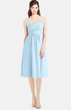 db6edb17aef ColsBM Amya Ice Blue Glamorous Sleeveless Zip up Chiffon Knee Length  Bridesmaid Dresses