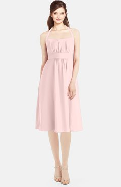 78e235df11 ColsBM Amya Pastel Pink Glamorous Sleeveless Zip up Chiffon Knee Length  Bridesmaid Dresses