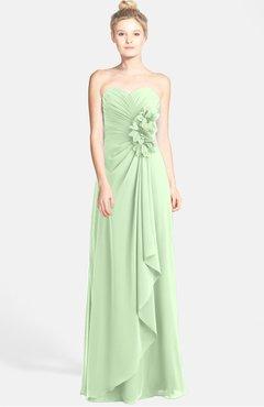 Colsbm Brenna Pale Green Hippie Sweetheart Sleeveless Zip Up Floor Length Bridesmaid Dresses
