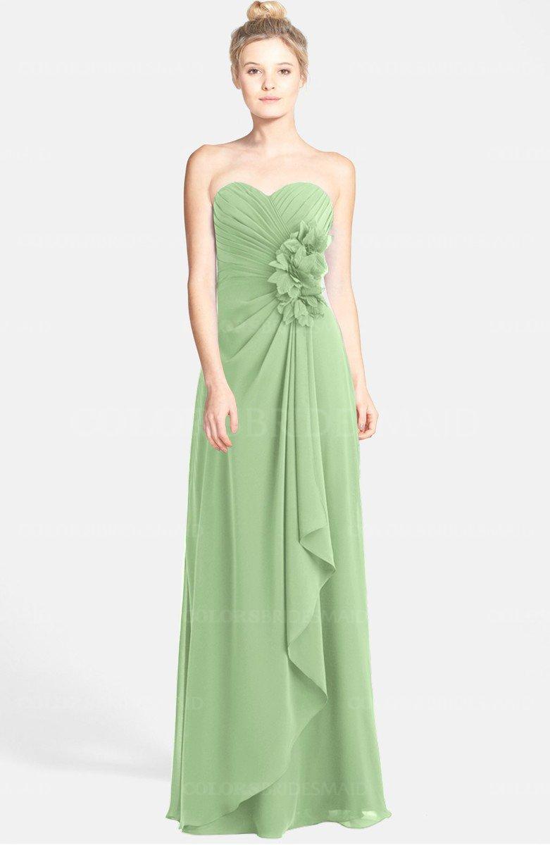 771b450b93fc ColsBM Brenna Sage Green Hippie Sweetheart Sleeveless Zip up Floor Length Bridesmaid  Dresses