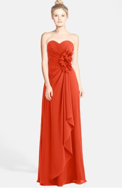 Colsbm Brenna Tangerine Tango Hippie Sweetheart Sleeveless Zip Up Floor Length Bridesmaid Dresses
