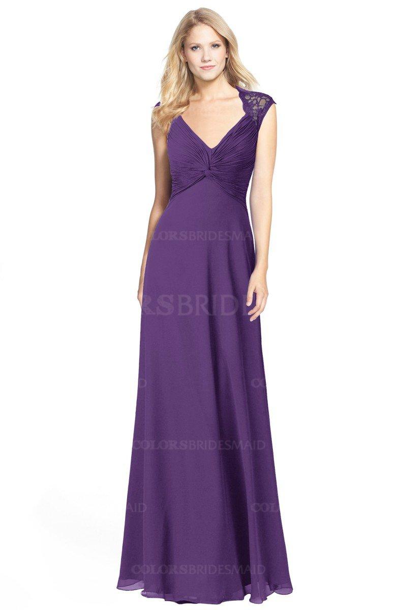 958c8bea7f Modest Purple Bridesmaid Dresses
