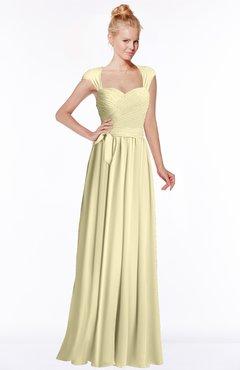 ColsBM Anna Anise Flower Modest Sleeveless Half Backless Chiffon Floor Length Bridesmaid Dresses