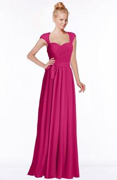 ColsBM Anna Beetroot Purple Modest Sleeveless Half Backless Chiffon Floor Length Bridesmaid Dresses