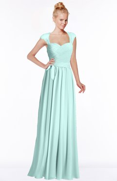 ColsBM Anna Blue Glass Modest Sleeveless Half Backless Chiffon Floor Length Bridesmaid Dresses
