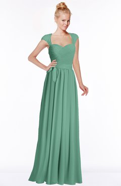 ColsBM Anna Bristol Blue Modest Sleeveless Half Backless Chiffon Floor Length Bridesmaid Dresses