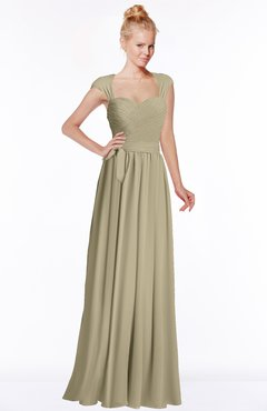 ColsBM Anna Candied Ginger Modest Sleeveless Half Backless Chiffon Floor Length Bridesmaid Dresses