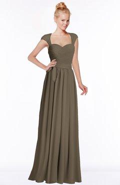 ColsBM Anna Carafe Brown Modest Sleeveless Half Backless Chiffon Floor Length Bridesmaid Dresses
