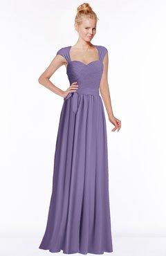 ColsBM Anna Chalk Violet Modest Sleeveless Half Backless Chiffon Floor Length Bridesmaid Dresses