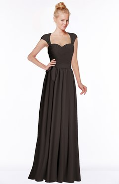 ColsBM Anna Fudge Brown Modest Sleeveless Half Backless Chiffon Floor Length Bridesmaid Dresses