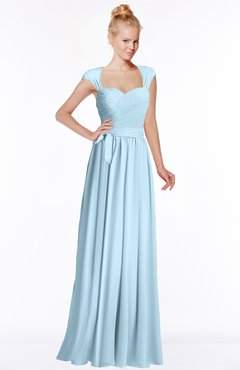 ColsBM Anna Ice Blue Modest Sleeveless Half Backless Chiffon Floor Length Bridesmaid Dresses