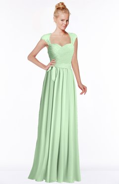 ColsBM Anna Light Green Modest Sleeveless Half Backless Chiffon Floor Length Bridesmaid Dresses