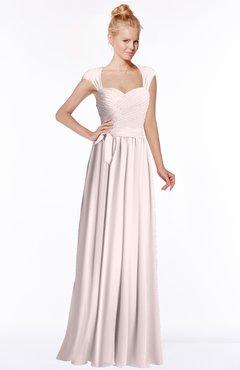 ColsBM Anna Light Pink Modest Sleeveless Half Backless Chiffon Floor Length Bridesmaid Dresses