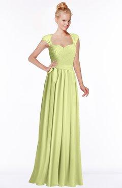 ColsBM Anna Lime Green Modest Sleeveless Half Backless Chiffon Floor Length Bridesmaid Dresses