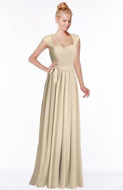ColsBM Anna Novelle Peach Modest Sleeveless Half Backless Chiffon Floor Length Bridesmaid Dresses