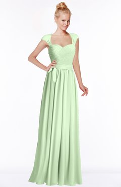 ColsBM Anna Pale Green Modest Sleeveless Half Backless Chiffon Floor Length Bridesmaid Dresses