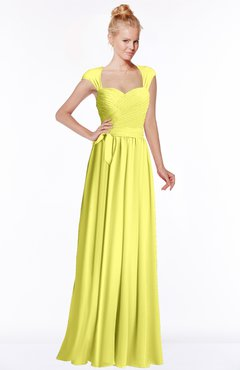 ColsBM Anna Pale Yellow Modest Sleeveless Half Backless Chiffon Floor Length Bridesmaid Dresses