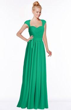 ColsBM Anna Pepper Green Modest Sleeveless Half Backless Chiffon Floor Length Bridesmaid Dresses