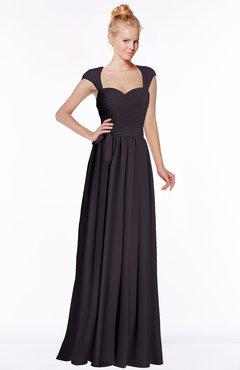 ColsBM Anna Perfect Plum Modest Sleeveless Half Backless Chiffon Floor Length Bridesmaid Dresses