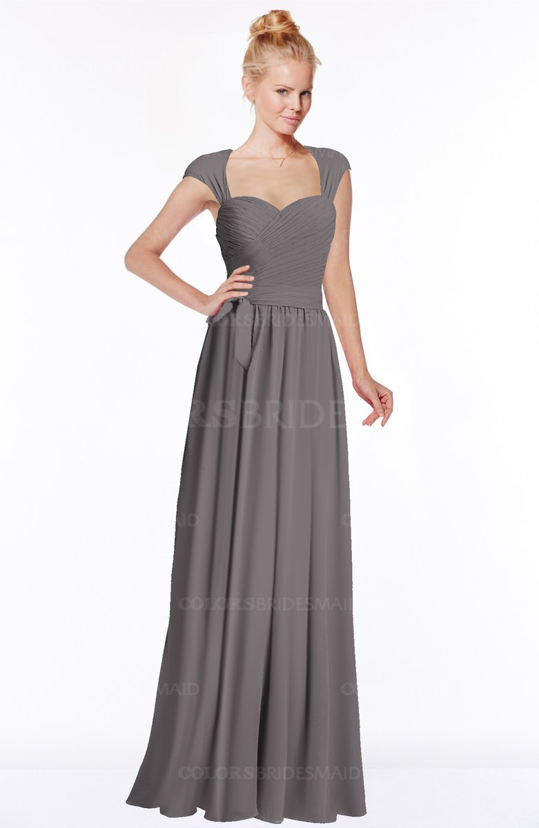 26f2a493b036 ColsBM Anna Ridge Grey Modest Sleeveless Half Backless Chiffon Floor Length  Bridesmaid Dresses