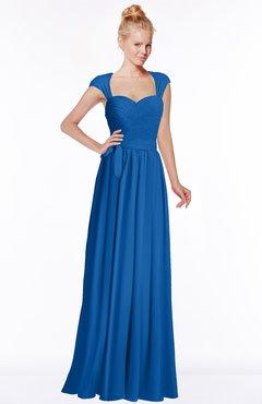 ColsBM Anna Royal Blue Modest Sleeveless Half Backless Chiffon Floor Length Bridesmaid Dresses
