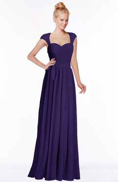 ColsBM Anna Royal Purple Modest Sleeveless Half Backless Chiffon Floor Length Bridesmaid Dresses