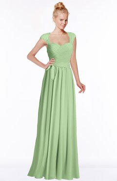 ColsBM Anna Sage Green Modest Sleeveless Half Backless Chiffon Floor Length Bridesmaid Dresses
