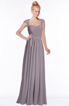 ColsBM Anna Sea Fog Modest Sleeveless Half Backless Chiffon Floor Length Bridesmaid Dresses