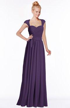 ColsBM Anna Violet Modest Sleeveless Half Backless Chiffon Floor Length Bridesmaid Dresses