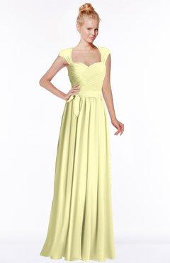 ColsBM Anna Wax Yellow Modest Sleeveless Half Backless Chiffon Floor Length Bridesmaid Dresses