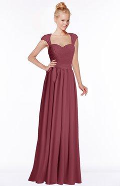 ColsBM Anna Wine Modest Sleeveless Half Backless Chiffon Floor Length Bridesmaid Dresses