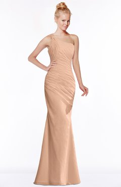 ColsBM Michelle Almost Apricot Simple A-line Sleeveless Chiffon Floor Length Bridesmaid Dresses