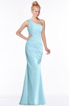 ColsBM Michelle Aqua Simple A-line Sleeveless Chiffon Floor Length Bridesmaid Dresses