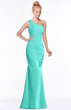 ColsBM Michelle Blue Turquoise Simple A-line Sleeveless Chiffon Floor Length Bridesmaid Dresses