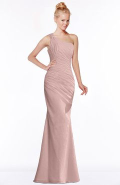 ColsBM Michelle Blush Pink Simple A-line Sleeveless Chiffon Floor Length Bridesmaid Dresses